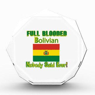 ボリビアの市民のデザイン 表彰盾