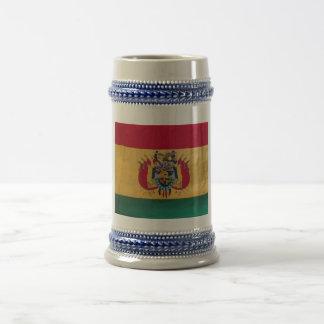 ボリビアの旗が付いているビールジョッキ ビールジョッキ