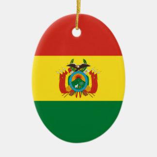ボリビアの旗 セラミックオーナメント