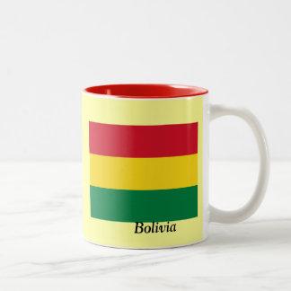 ボリビアの旗 ツートーンマグカップ