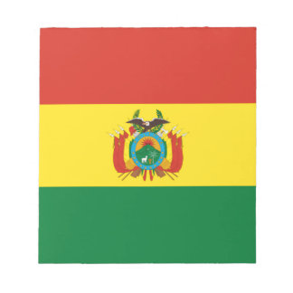ボリビアの旗 ノートパッド
