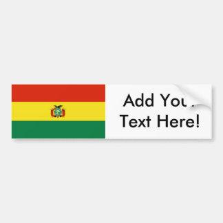 ボリビアの旗 バンパーステッカー