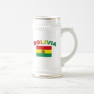 ボリビアの旗 ビールジョッキ