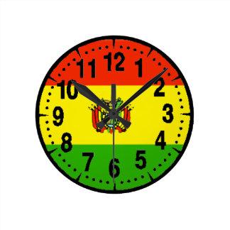 ボリビアの旗 ラウンド壁時計