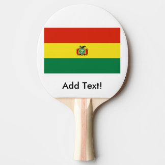 ボリビアの旗 卓球ラケット