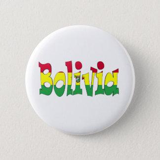 ボリビアの旗 5.7CM 丸型バッジ