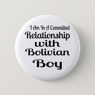 ボリビアの男の子との人間関係 5.7CM 丸型バッジ
