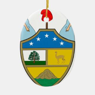 ボリビアの紋章付き外衣 セラミックオーナメント