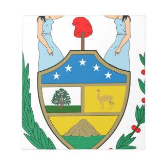 ボリビアの紋章付き外衣 ノートパッド