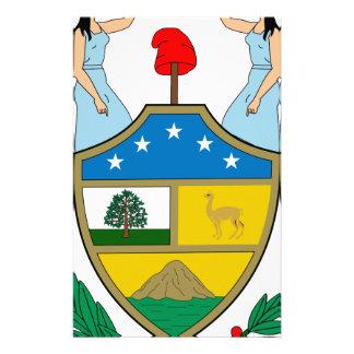 ボリビアの紋章付き外衣 便箋