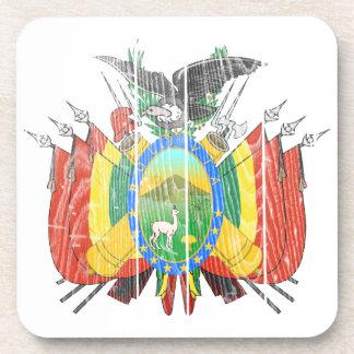 ボリビアの紋章付き外衣 飲み物コースター