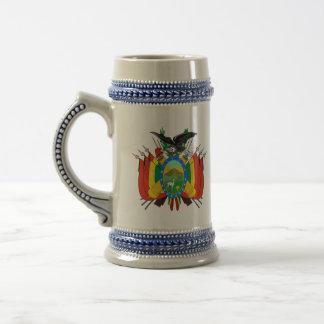 ボリビアの紋章 ビールジョッキ