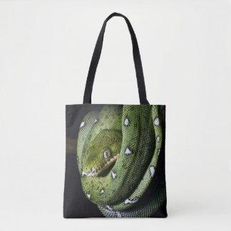 ボリビアの緑の木のヘビのエメラルドのボア トートバッグ