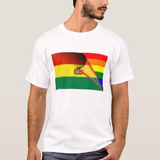 ボリビアゲイプライドの虹の旗 Tシャツ