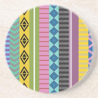 ボリビア人は縞で飾ります コースター