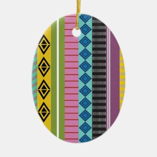 ボリビア人は縞で飾ります セラミックオーナメント