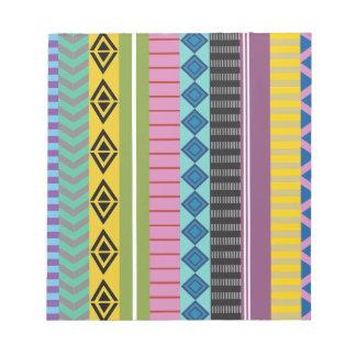ボリビア人は縞で飾ります ノートパッド