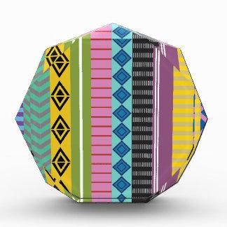 ボリビア人は縞で飾ります 表彰盾