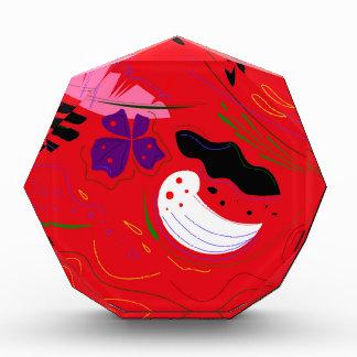 ボリビア手描きのEtnoの赤 表彰盾