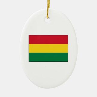 ボリビア-ボリビアの旗 セラミックオーナメント