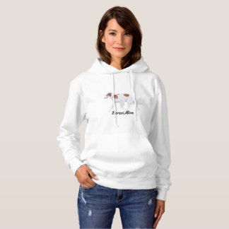 ボルゾイのお母さんの元の芸術のフード付きのスエットシャツ パーカ