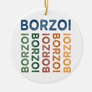 ボルゾイのかわいいカラフル セラミックオーナメント