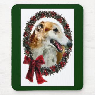 ボルゾイのクリスマスのギフト マウスパッド