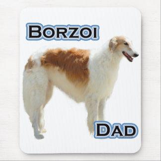 ボルゾイのパパ4 マウスパッド