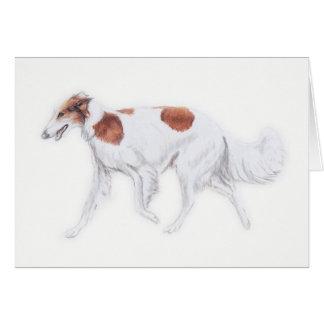 ボルゾイのロシアのなWolfhound犬の芸術の挨拶状 カード