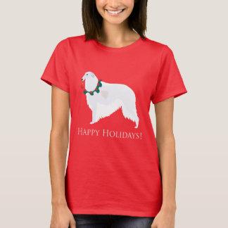 ボルゾイの幸せな休日のデザイン Tシャツ