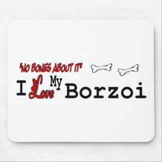 ボルゾイの恋人のギフト マウスパッド