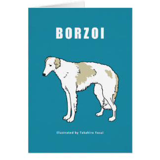 ボルゾイの挨拶状 カード