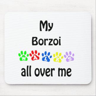 ボルゾイの歩行のデザイン マウスパッド