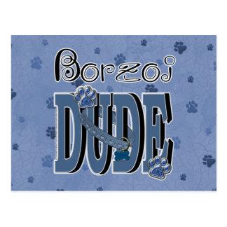 ボルゾイの男 ポストカード
