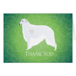 ボルゾイはデザイン感謝していしています カード