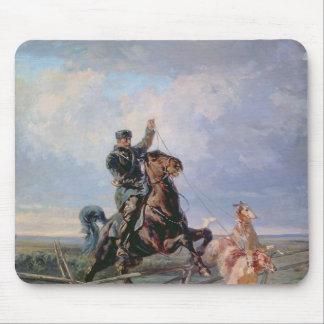 ボルゾイを持つ猟師、1872年 マウスパッド