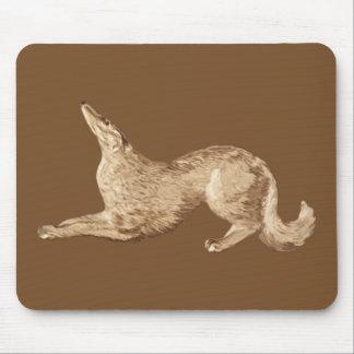 ボルゾイを遊ぶこと マウスパッド