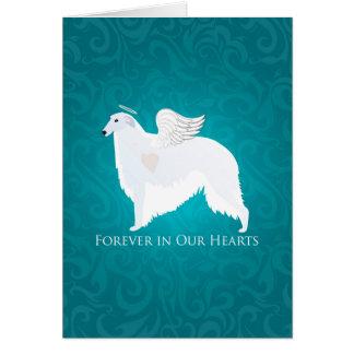 ボルゾイペット損失の悔やみや弔慰のデザイン カード