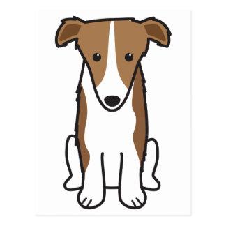 ボルゾイ犬の漫画 ポストカード