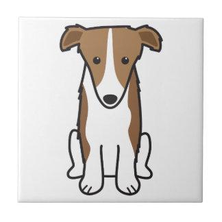 ボルゾイ犬の漫画 正方形タイル小