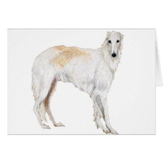 ボルゾイ犬の芸術のメッセージカード カード