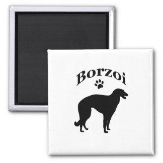 ボルゾイ犬のpawprintの磁石、ギフトのアイディア マグネット