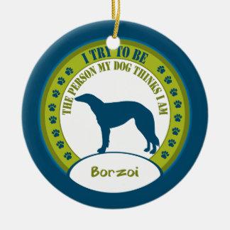 ボルゾイ|のクリスマスオーナメント セラミックオーナメント