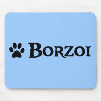 ボルゾイ(pawprintとの海賊スタイル) マウスパッド