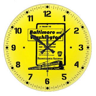 ボルティモアおよびワシントン州へのペンシルバニアの鉄道 ラージ壁時計