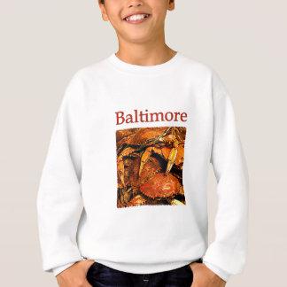 ボルティモアによってはカニのロゴが蒸気を発しました スウェットシャツ