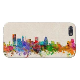 ボルティモアメリーランドのスカイラインの都市景観 iPhone SE/5/5sケース