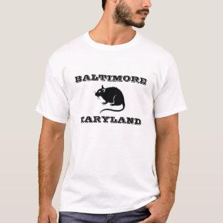 ボルティモアメリーランドのラットのワイシャツ Tシャツ