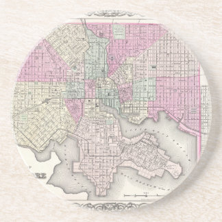 ボルティモアメリーランドの地図 コースター