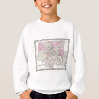ボルティモアメリーランドの地図 スウェットシャツ